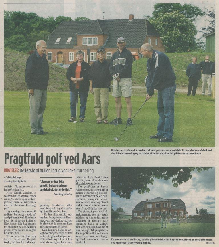 05528c8e2c80 Pragtfuld golf ved Aars samt Golfbanen i Aars åbner alle 18 huller